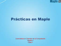 Prácticas en Maple