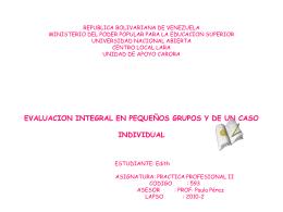 REPUBLICA BOLIVARIANA DE VENEZUELA MINISTERIO DEL