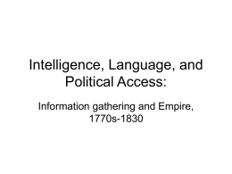 Intelligence, Language, and Political Access: