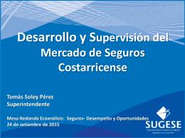 Seminario econálisis, Supervisón de Segguros