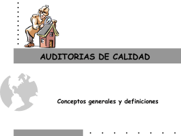 AUDITORIAS DE CALIDAD - Matematicas, Fisicoquimica