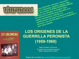 LOS ORIGENES DE LA GUERRILLA PERONISTA (1959