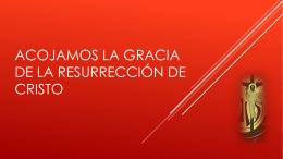 Acojamos la gracia de la Resurrección de Cristo