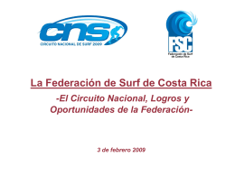 CIRCUITO NACIONAL DE SURF COSTA RICA