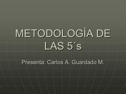 METODOLOGÍA DE LAS 5´s