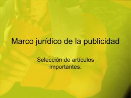 Marco jurídico de la publicidad