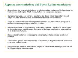 Algunas características del Boom Latinoamericano: