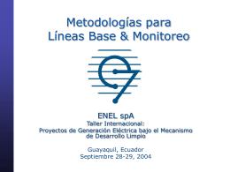 Metodologías para líneas de base y monitoreo
