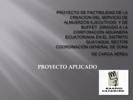 PROYECTO DE FACTIBILIDAD DE LA CREACION DEL