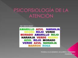 PSICOFISIOLOGÍA DE LA ATENCIÓN