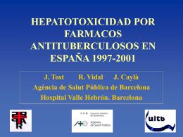 HEPATOTOXICIDAD POR FARMACOS ANTITUBERCULOSOS EN