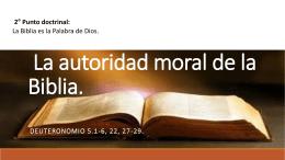 La autoridad moral de la Biblia. - Inicio ICIAR -