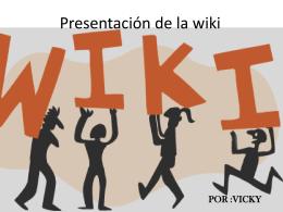 Presentación de la wiki