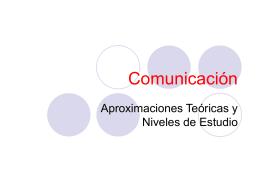 Comunicación - Nuestras Clases
