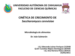 CINÉTICA DE CRECIMIENTO DE SACCHAROMYCES
