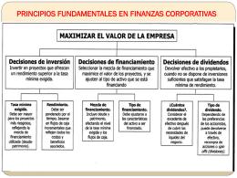 PRINCIPIOS FUNDAMENTALES EN FINANZAS CORPORATIVAS