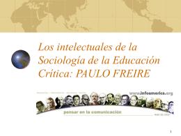 Tema: la Visión de Educación Popular de Paulo