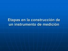 Etapas en la construcción de un instrumento de