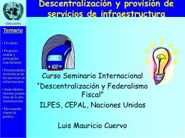 Descentralización y provisión de servicios de