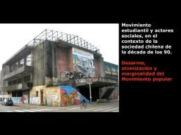 Movimiento estudiantil y actores sociales, en el