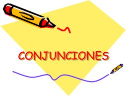CONJUNCIONES - Inicio - joelipas jimdo page!