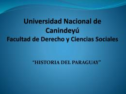Universidad Nacional de Canindeyú Facultad de