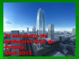 IV encuentro de profesores E/LE de Polonia Abril