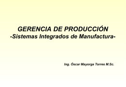 SISTEMAS INTEGRADOS DE MANUFACTURA