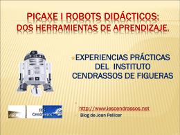 Picaxe i robots didácticos: dos herramientas de