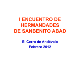 I ENCUENTRO DE HERMANDADES DE SANBENITO ABAD