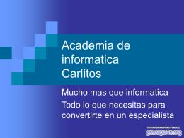 Academia de informatica Carlitos