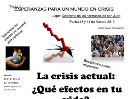 Esperanzas para un mundo en crisis