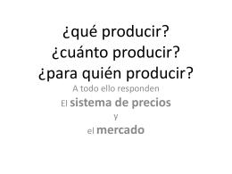 ¿Qué producir