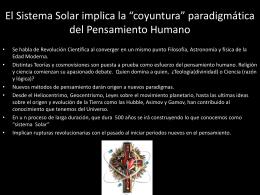"""El Sistema Solar implica la """"coyuntura"""""""