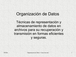 Organización de Datos - ahoradatos