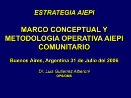Sin título de diapositiva - Representación OPS/OMS