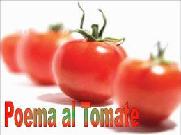Poema al tomate - Liceo Daniele Crespi