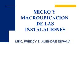 MICRO Y MACROUBICACION DE LAS INSTALACIONES