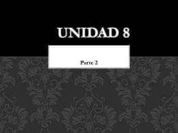 Vocabulario de la unidad 8