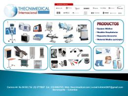 Diapositiva 1 - Thecnimedical Internacional