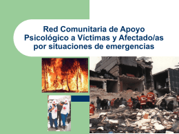 Red Comunitaria de Apoyo Psicológico a Víctimas y