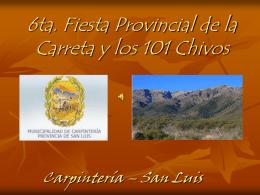 7ma. Fiesta Provincial de la Carreta y los 101