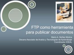 FTP para publicar documentos
