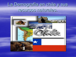 La Demografía en chile.