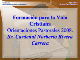 Formación para la Vida Cristiana Orientaciones
