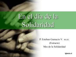 En el día de la Solidaridad