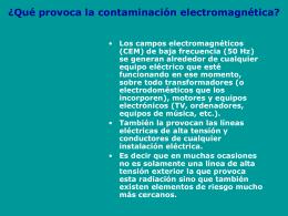 ¿Qué provoca la contaminación electromagnética?