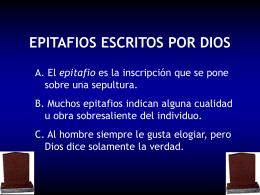 Epitafios Escritos Por Dios
