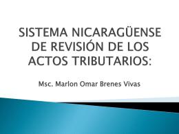 Sistema Nicaragüense de revisión de los actos