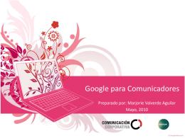 Google para Comunicados